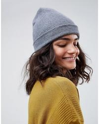 Женская серая шапка от ASOS DESIGN