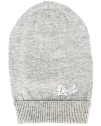 Детская серая шапка для девочке от Diesel