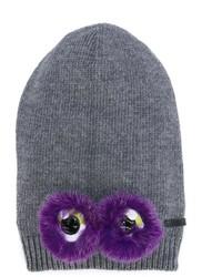 Детская серая шапка для девочке от Fendi