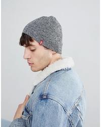 Мужская серая шапка от Levi's