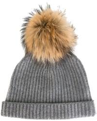 Женская серая шапка от N.Peal