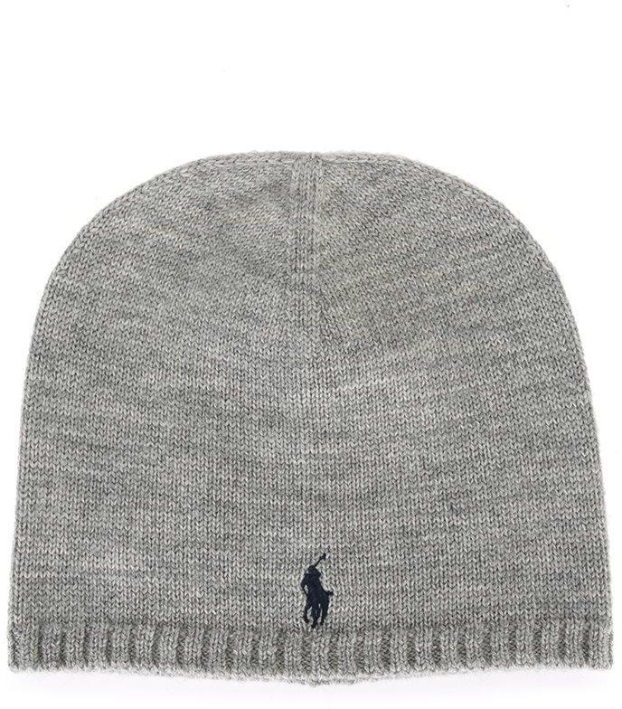 Детская серая шапка для мальчику от Ralph Lauren