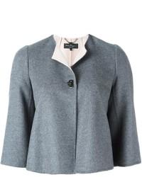 Женская серая шерстяная куртка от Salvatore Ferragamo