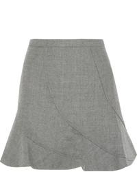 Серая шерстяная мини-юбка