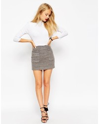 Серая шерстяная мини-юбка от Asos