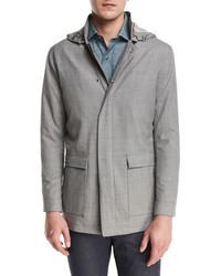 Серая шерстяная полевая куртка