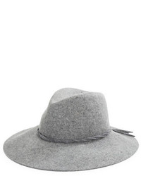 Серая шерстяная шляпа
