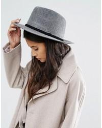 Женская серая шерстяная шляпа
