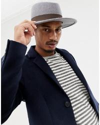 Мужская серая шерстяная шляпа от ASOS DESIGN