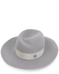 Женская серая шерстяная шляпа от Maison Michel