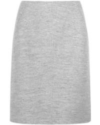 Серая шерстяная юбка-карандаш