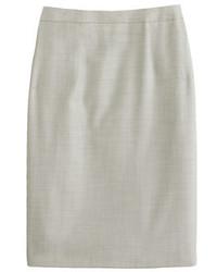 Женская серая шерстяная юбка-карандаш от J.Crew