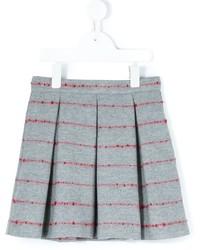 Детская серая шерстяная юбка со складками для девочке от Il Gufo
