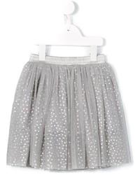 Серая юбка в горошек