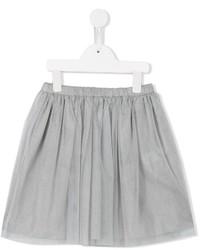 Детская серая юбка из фатина для девочке от Il Gufo
