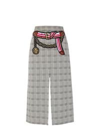Серая юбка-карандаш в шотландскую клетку от Marco De Vincenzo