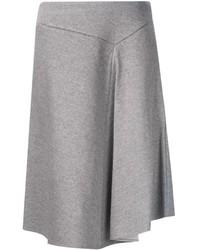 Серая юбка-миди со складками от ASTRAET