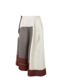 Серая юбка-миди со складками от Comme Des Garçons Vintage