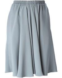 Серая юбка-миди со складками от Giorgio Armani