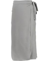 Серая юбка-миди