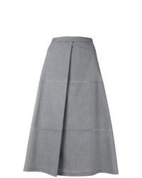 Серая юбка-трапеция