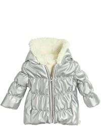 Серебряная кожаная куртка