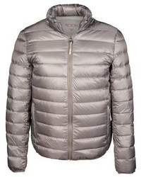 Серебряная куртка-пуховик