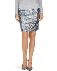 Серебряная мини-юбка с пайетками