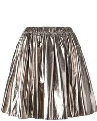 Серебряная пышная юбка