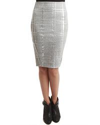 Серебряная юбка-карандаш