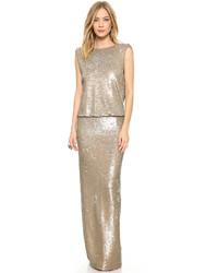 Женское серебряное вечернее платье с пайетками от Rachel Zoe
