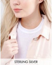 Серебряное ожерелье-чокер с украшением
