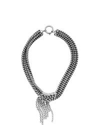 Серебряное ожерелье-чокер с украшением от Isabel Marant