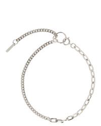 Серебряное ожерелье-чокер от Justine Clenquet