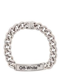Серебряное ожерелье-чокер от Off-White
