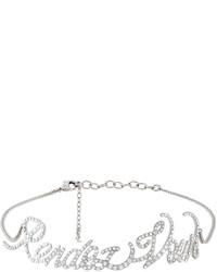 Серебряное ожерелье-чокер от Saint Laurent