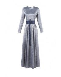Серебряное платье-макси от Bella Kareema