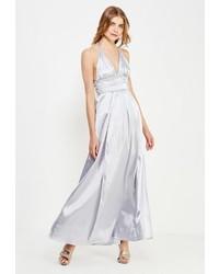 Серебряное платье-макси от CHIC