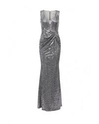 Серебряное платье-макси от Goddiva