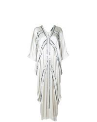 Серебряное платье-макси от Josie Natori