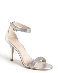 серебряные босоножки на каблуке original 2132331