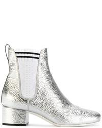 Женские серебряные ботинки челси от Fendi