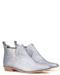 Детские серебряные ботинки для девочке от Stella McCartney