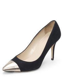 Серебряные замшевые туфли