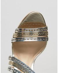 Детские серебряные кожаные босоножки для девочке от Carvela