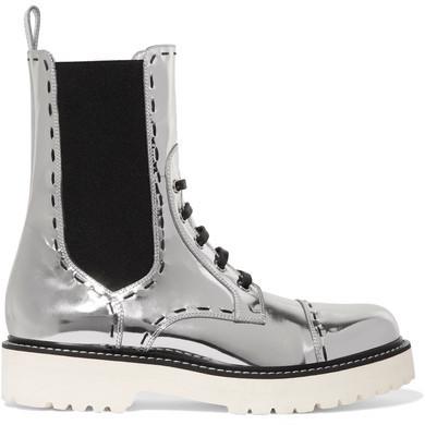 afc20045ce63 Женские серебряные кожаные ботинки от Dolce   Gabbana   Где купить и ...
