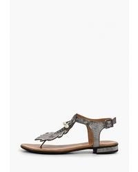 Серебряные кожаные вьетнамки от Pierre Cardin