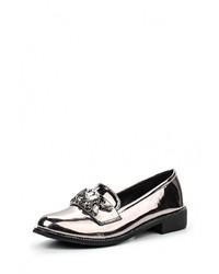Женские серебряные кожаные лоферы от Catherine