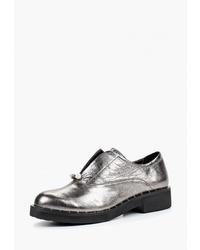 Женские серебряные кожаные лоферы от Pierre Cardin