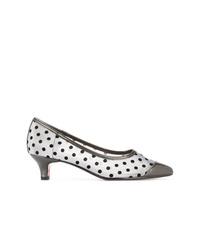 Серебряные кожаные туфли в горошек от GUILD PRIME